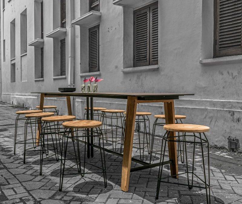 MATCH COUNTER STOOL & SATO COMMUNAL TABLE