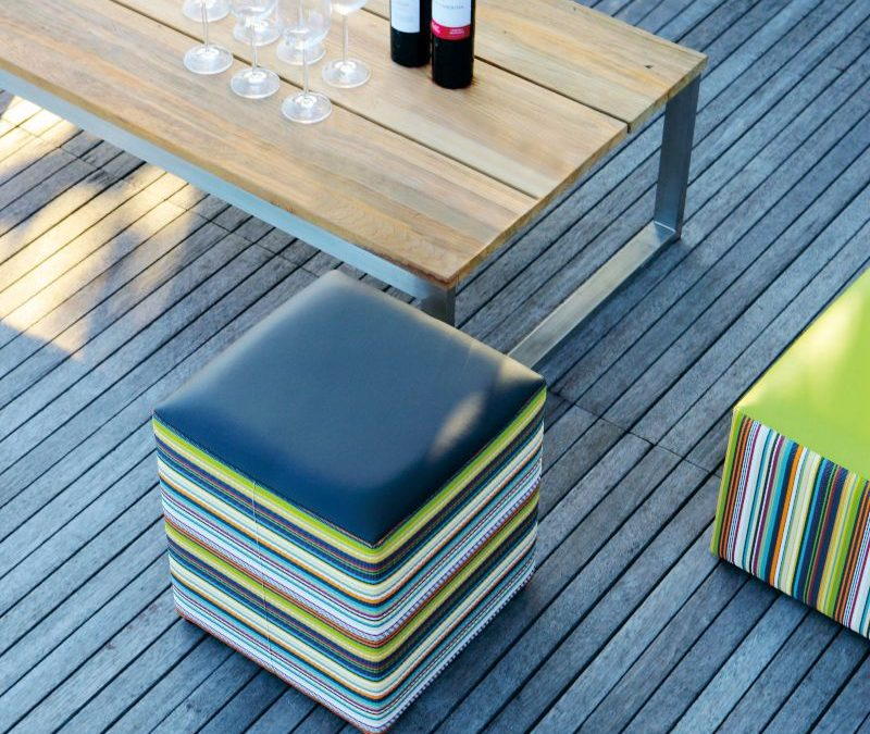 OKO Rectangular Table & STRIPE Stool