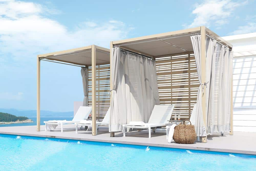 SOMBRERO CANOPY & ALLUX STACKABLE LOUNGER