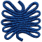 Weaving - rope-navy - CS.W23 - 10 x 10 x 0,3 cm (4