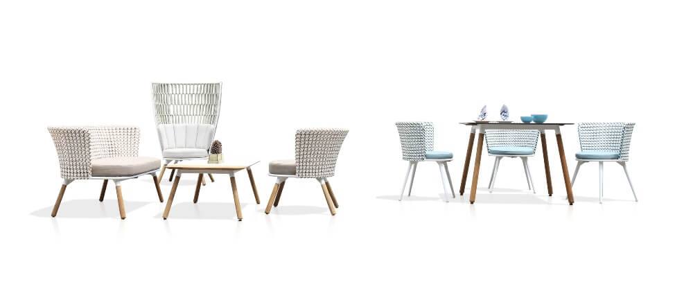 DAISY MAE Dining Set and Rae Chat Chair