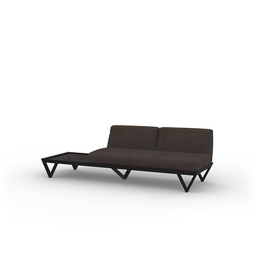 BONDI BELLE Sofa 2-Seater Sectional with Table (Teak)