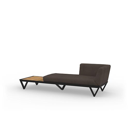 BONDI BELLE Sofa Chaise with Table (Teak)