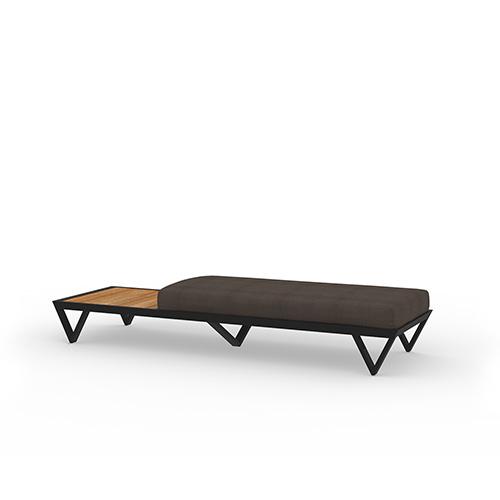 BONDI BELLE Sofa 2-Seater Bench with Table (Teak)