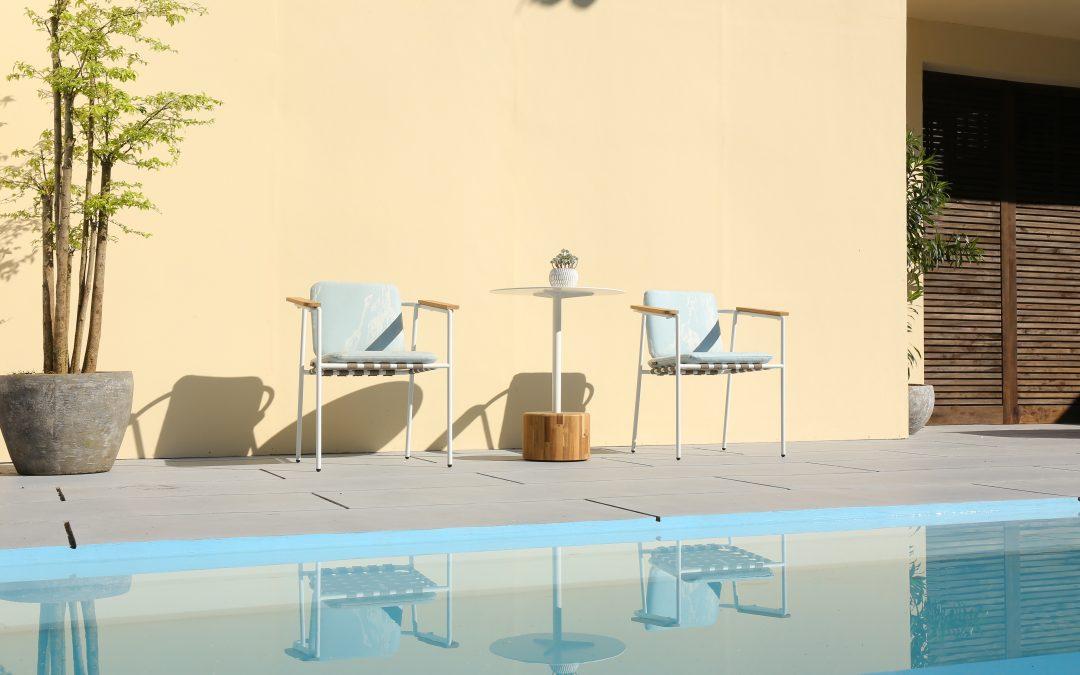 GLYPH Side Table & ALBATROSS Dining Chair