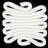 Weaving - rope-pearl - CS.W32 - 10 x 10 x 0,3 cm (4